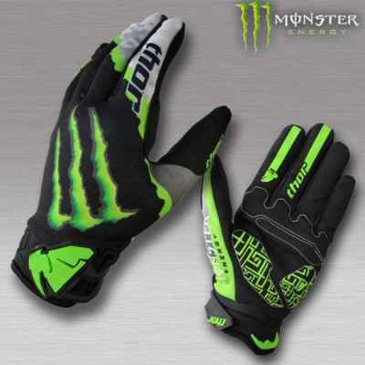 Monster Energy Thor Paintball Handschuhe (schwarz/grün) - L | Paintball Sports