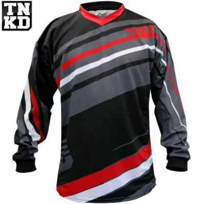 Tanked BASIC Paintball Jersey (schwarz/rot) - 2XL | Paintball Sports