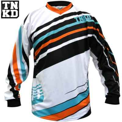 Tanked BASIC Paintball Jersey (weiss/orange) - 2XL | Paintball Sports