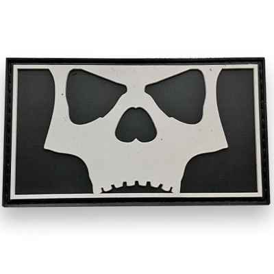 L.A. Infamous Icon Skull Full Patch (Black/White)   Paintball Sports