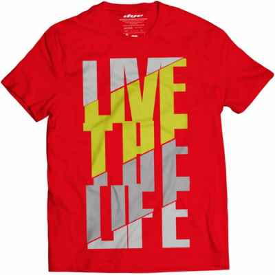 DYE T-Shirt Live the Life (rot/gelb) | Paintball Sports